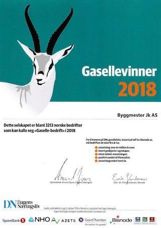 Bisnode gasellevinner 2018
